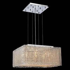"Moda Collection 9-Light 22"" Chrome Pendant with Light Topaz Yellow Royal Cut Crystal 1294D22C-LT/RC"