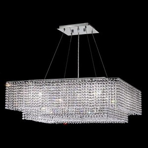 "Moda Collection 5-Light 28"" Chrome Pendant with Peridot Light Green Swarovski Strass Crystal 1299D28C-LP/SS"