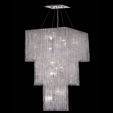 "Moda Collection 9-Light 16"" Chrome Chandelier with Peridot Light Green Swarovski Strass Crystal 1299G63C-LP/SS"