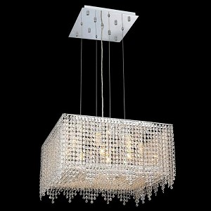 "Moda Collection 9-Light 22"" Chrome Pendant with Light Topaz Yellow Swarovski Strass Crystal 1394D22C-LT/SS"