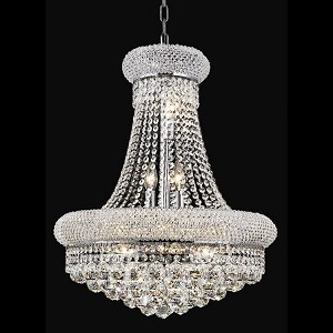 "Primo Collection 14-Light 20"" Chrome Chandelier with Clear Royal Cut Crystal 1800D20C/RC"