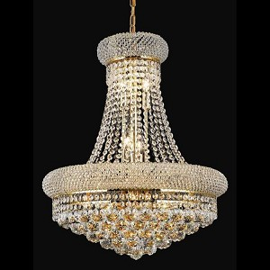 "Primo Collection 14-Light 20"" Gold Chandelier with Clear Elegant Cut Crystal 1800D20G/EC"