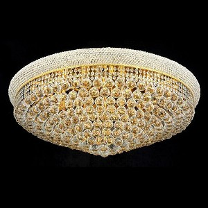 "Primo Collection 20-Light 36"" Gold Flush Mount with Clear Swarovski Spectra Crystal 1800F36G/SA"