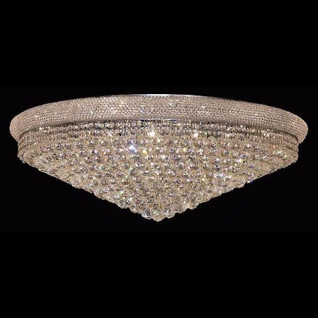 "Primo Collection 30-Light 42"" Chrome Flush Mount with Clear Swarovski Spectra Crystal 1800F42C/SA"