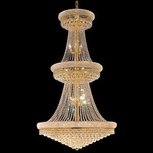"Primo Collection 38-Light 42"" Gold Chandelier with Clear Royal Cut Crystal 1800G42G/RC"
