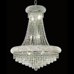 "Primo Collection 14-Light 24"" Chrome Chandelier with Clear  Swarovski Strass Crystal 1802D24C/SS"