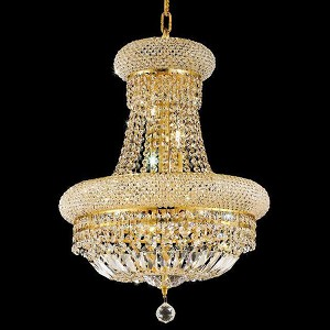 "Primo Collection 8-Light 16"" Gold Chandelier with Clear Swarovski Spectra Crystal 1803D16G/SA"