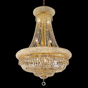 "Primo Collection 14-Light 24"" Gold Chandelier with Clear  Swarovski Strass Crystal 1803D24G/SS"