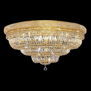 "Primo Collection 30-Light 42"" Gold Flush Mount with Clear  Swarovski Strass Crystal 1803F42G/SS"