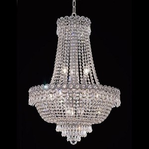 "Century Collection 12-Light 20"" Chrome Chandelier with Clear  Swarovski Strass Crystal 1900D20C/SS"