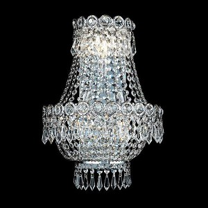 "Century Collection 3-Light 12"" Chrome Wall Sconce with Clear  Swarovski Strass Crystal 1900W12SC/SS"