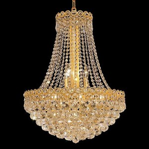 "Century Collection 12-Light 20"" Gold Chandelier with Clear  Swarovski Strass Crystal 1901D20G/SS"