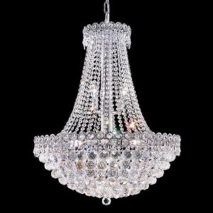 "Century Collection 12-Light 24"" Chrome Chandelier with Clear  Swarovski Strass Crystal 1901D24C/SS"