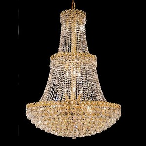 "Century Collection 17-Light 30"" Gold Chandelier with Clear  Swarovski Strass Crystal 1901G30G/SS"