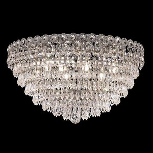 "Century Collection 9-Light 20"" Chrome Flush Mount with Clear Swarovski Spectra Crystal 1902F20C/SA"