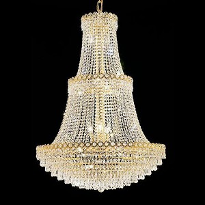 "Century Collection 17-Light 30"" Gold Chandelier with Clear  Swarovski Strass Crystal 1902G30G/SS"
