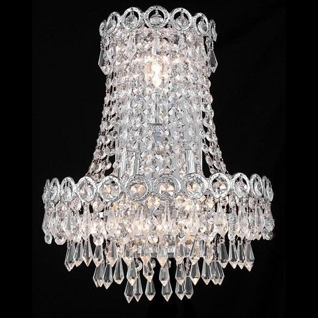 "Century Collection 3-Light 12"" Chrome Wall Sconce with Clear Swarovski Spectra Crystal 1902W12SC/SA"