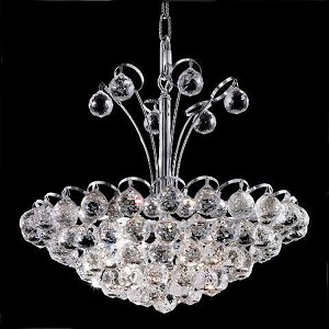 "Godiva Collection 8-Light 18"" Chrome Pendant with Clear Elegant Cut Crystal 2001D18C/EC"