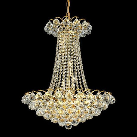 "Godiva Collection 13-Light 21"" Gold Chandelier with Clear  Swarovski Strass Crystal 2001D21G/SS"