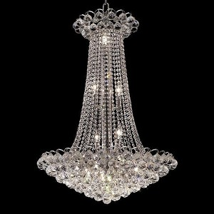 "Godiva Collection 15-Light 27"" Chrome Chandelier with Clear Elegant Cut Crystal 2001D27C/EC"
