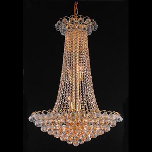 "Godiva Collection 15-Light 27"" Gold Chandelier with Clear  Swarovski Strass Crystal 2001D27G/SS"