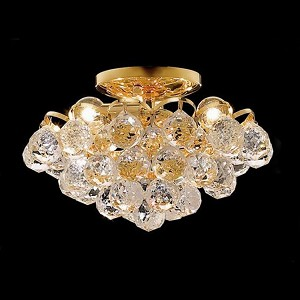 "Godiva Collection 4-Light 12"" Gold Semi Flush Mount with Clear  Swarovski Strass Crystal 2001F12G/SS"