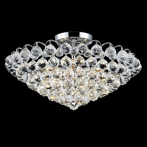 "Godiva Collection 9-Light 21"" Chrome Semi Flush Mount with Clear  Swarovski Strass Crystal 2001F21C/SS"
