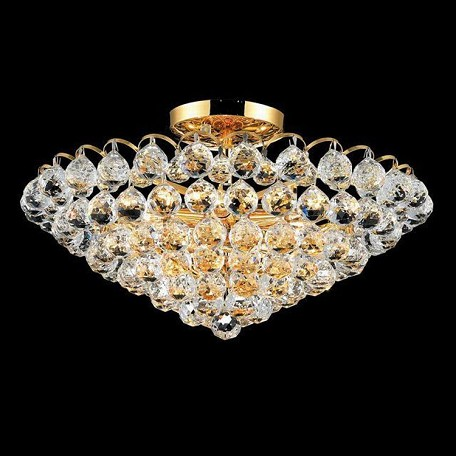 "Godiva Collection 9-Light 21"" Gold Semi Flush Mount with Clear  Swarovski Strass Crystal 2001F21G/SS"