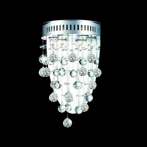 "Galaxy Collection 3-Light 12"" Chrome Wall Sconce with Clear Royal Cut Crystal 2006W12C/RC(LED)"