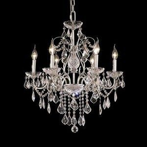 "St. Francis Collection 6-Light 24"" Chrome Chandelier with Clear Royal Cut Crystal 2015D24C/RC"