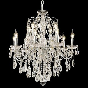"St. Francis Collection 12-Light 28"" Chrome Chandelier with Clear Swarovski Spectra Crystal 2016D28C/SA"