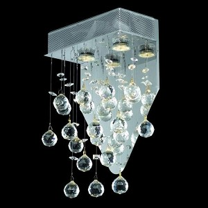 "Galaxy Collection 2-Light 12"" Chrome Wall Sconce with Clear Elegant Cut Crystal 2021W12C/EC(LED)"