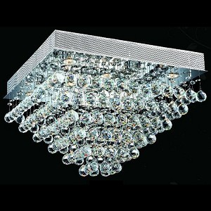 "Galaxy Collection 8-Light 24"" Chrome Flush Mount with Clear  Swarovski Strass Crystal 2023F24C/SS"