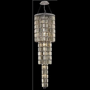 "Maxim Collection 12-Light 16"" Chrome Chandelier with Golden Teak Smoky Swarovski Strass Crystal 2030G54C-GT/SS"