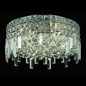 "Maxim Collection 5-Light 16"" Chrome Flush Mount with Clear  Swarovski Strass Crystal 2031F16C/SS"