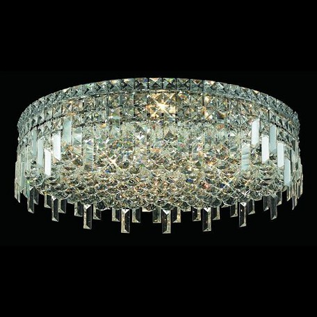 "Maxim Collection 9-Light 24"" Chrome Flush Mount with Clear  Swarovski Strass Crystal 2031F24C/SS"