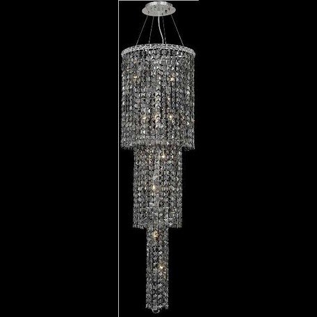 "Maxim Collection 12-Light 16"" Chrome Chandelier with Clear  Swarovski Strass Crystal 2031G54C/SS"