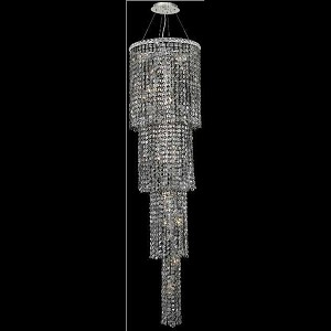 "Maxim Collection 18-Light 18"" Chrome Chandelier with Silver Shade Grey Royal Cut Crystal 2031G66C-SS/RC"