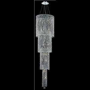 "Maxim Collection 18-Light 18"" Chrome Chandelier with Clear Elegant Cut Crystal 2031G66C/EC"