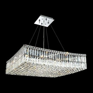 "Maxim Collection 12-Light 32"" Chrome Pendant with Clear Swarovski Spectra Crystal 2032D32C/SA"