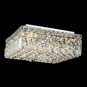 "Maxim Collection 6-Light 16"" Chrome Flush Mount with Clear  Swarovski Strass Crystal 2032F16C/SS"
