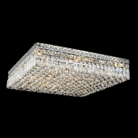 "Maxim Collection 13-Light 24"" Chrome Flush Mount with Clear  Swarovski Strass Crystal 2032F24C/SS"