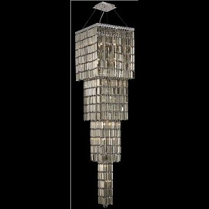 "Maxim Collection 18-Light 18"" Chrome Chandelier with Golden Teak Smoky Swarovski Strass Crystal 2032G66C-GT/SS"