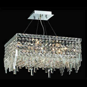 "Maxim Collection 12-Light 20"" Chrome Pendant with Clear Swarovski Spectra Crystal 2033D20C/SA"