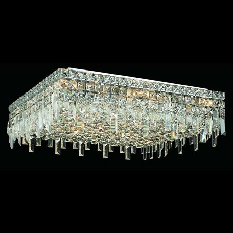 "Maxim Collection 13-Light 24"" Chrome Flush Mount with Clear Swarovski Spectra Crystal 2033F24C/SA"