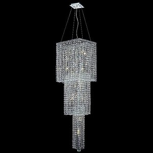 "Maxim Collection 14-Light 16"" Chrome Chandelier with Clear Elegant Cut Crystal 2033G54C/EC"