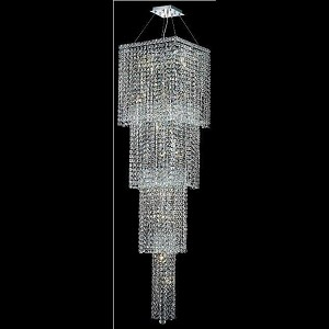 "Maxim Collection 18-Light 18"" Chrome Chandelier with Clear Elegant Cut Crystal 2033G66C/EC"