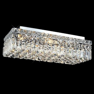 "Maxim Collection 4-Light 10"" Chrome Flush Mount with Clear Royal Cut Crystal 2034F20C/RC"
