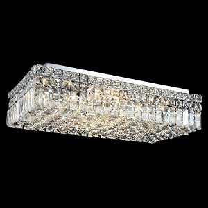 "Maxim Collection 6-Light 12"" Chrome Flush Mount with Clear  Swarovski Strass Crystal 2034F24C/SS"