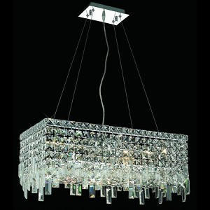 "Maxim Collection 6-Light 12"" Chrome Island Light with Clear  Swarovski Strass Crystal 2035D24C/SS"